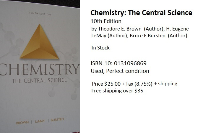 Chemistry The Central Science 10th Ed. isbn 0-13-109686-9